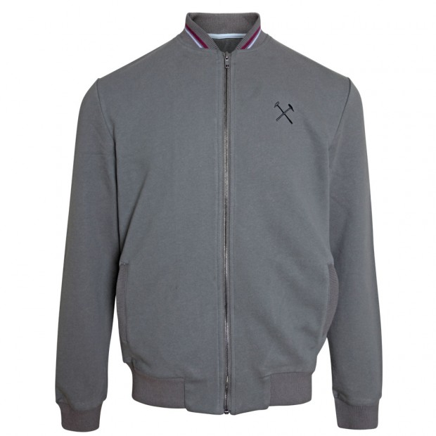 GREY FULL ZIP SWEAT JACKET