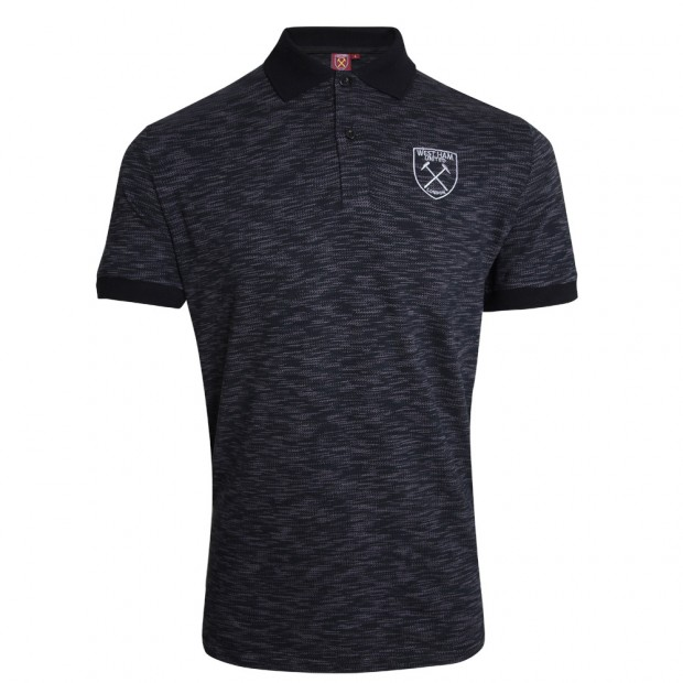 BLACK/GREY SILVER CREST POLO