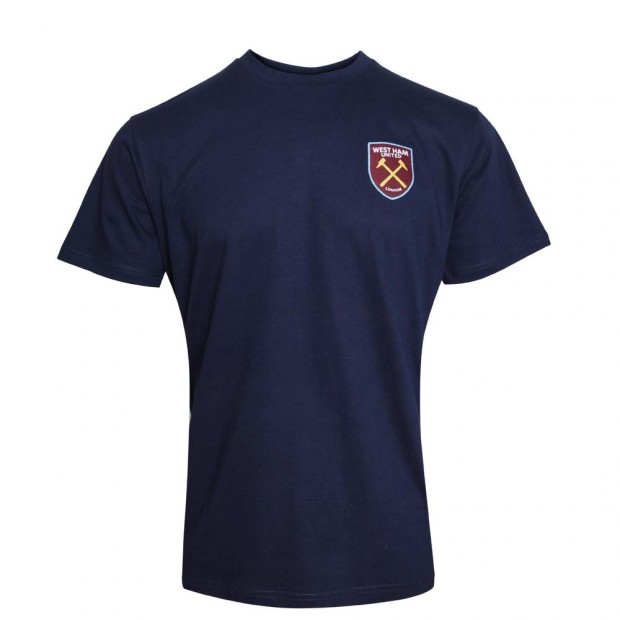 MENS NAVY SHORT SLEEVE LOUNGE TOP
