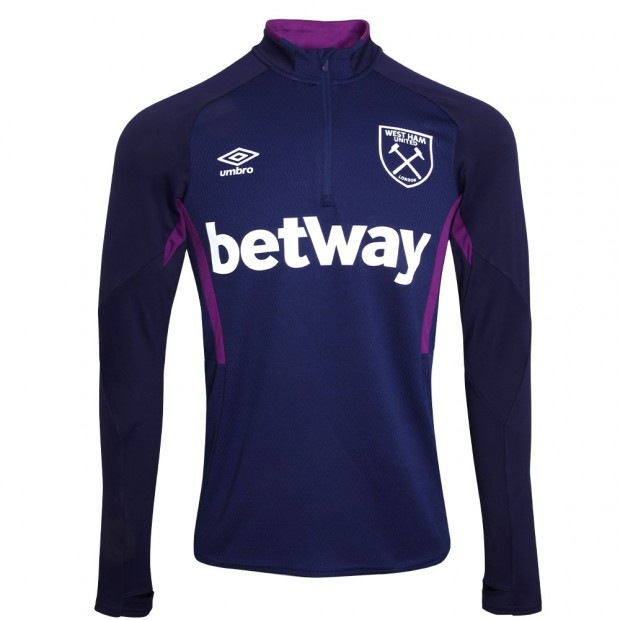 WEST HAM 19/20 ADULT TRAINING HALF ZIP TOP