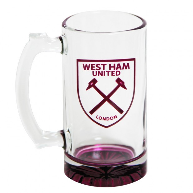 CREST BEER STEIN GLASS