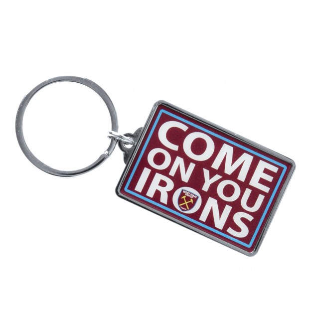 COME ON YOU IRONS KEYRING