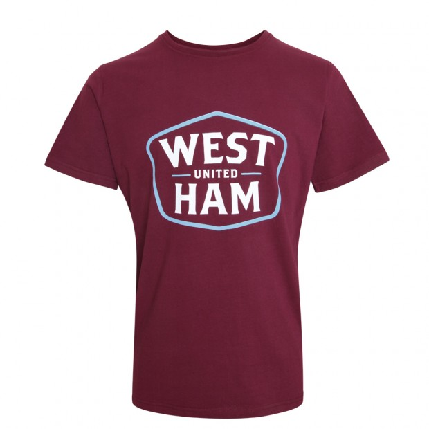 CLARET WHU SHIELD T-SHIRT