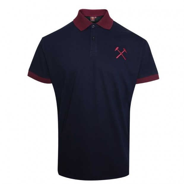 NAVY CONTRAST COLLAR POLO