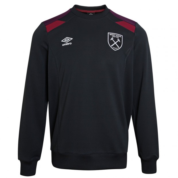 WEST HAM ADULTS TRAINING SWEATSHIRT BLACK
