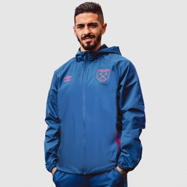 WEST HAM 20/21 ADULTS TRAINING SHOWER JACKET