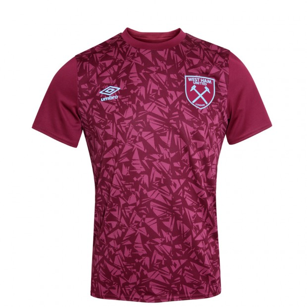 WEST HAM 20/21 JUNIOR WARM UP JERSEY