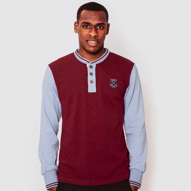 WEST HAM 125 - CLARET VINTAGE BUTTON TOP