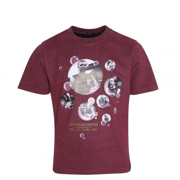 WEST HAM 125 - JUNIOR BUBBLES CAPTAINS T-SHIRT