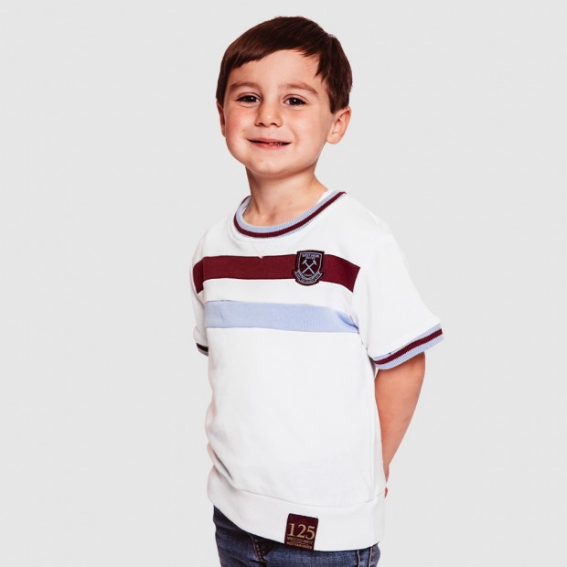 WEST HAM 125 - JUNIOR WHITE VINTAGE T-SHIRT
