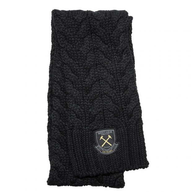 WEST HAM 125 - BLACK CHUNKY SCARF