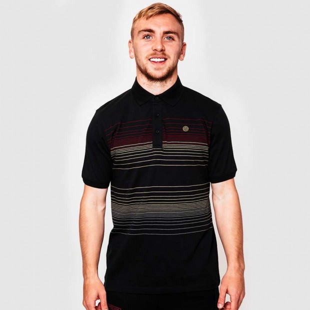 CLARET COLLECTION 125 - STRIPE POLO