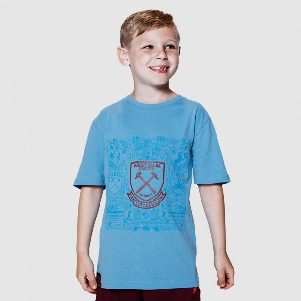 WEST HAM 125 - JUNIOR SKY HISTORY PRINT T-SHIRT