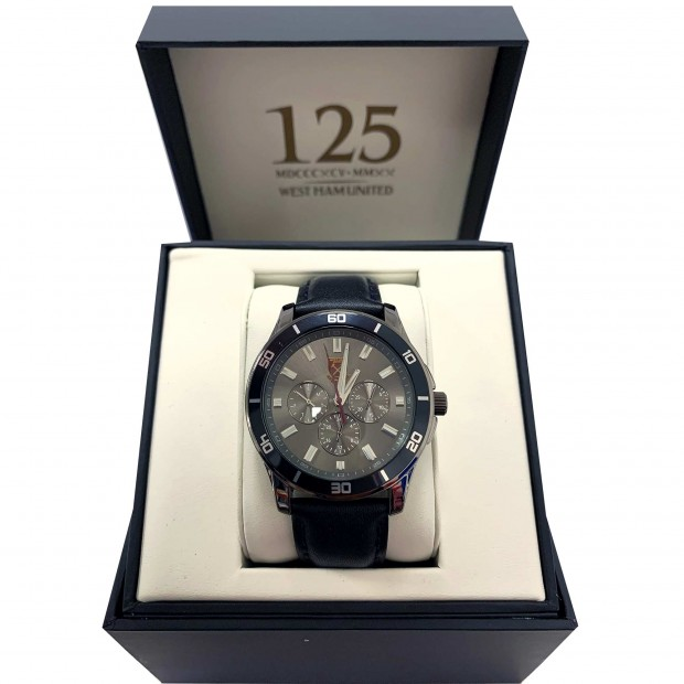 WEST HAM 125 - BLACK GOLD CREST WATCH