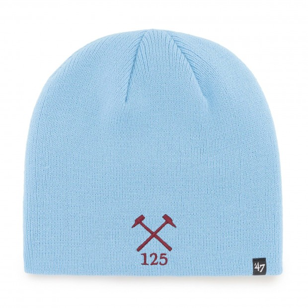 WEST HAM 125-SKY HAMMERS BEANIE