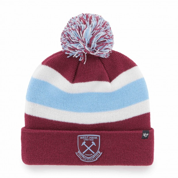 WEST HAM 125-CLARET BAR CUFF KNIT HAT