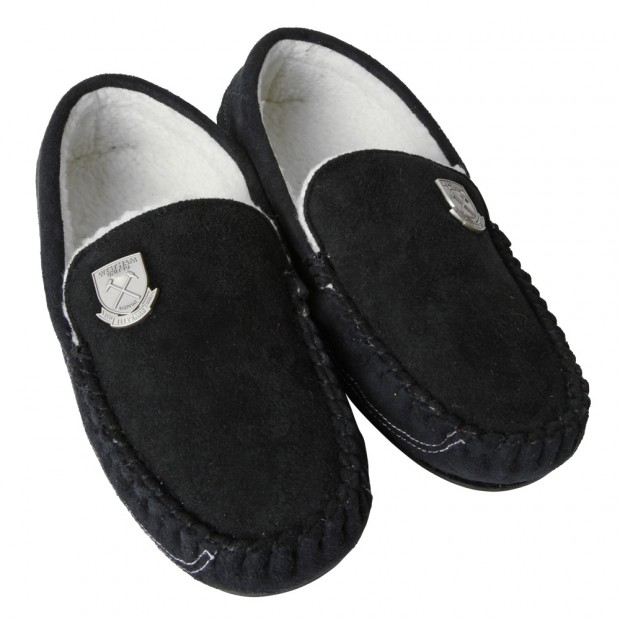 WEST HAM 125-MENS MOCCASIN SLIPPERS