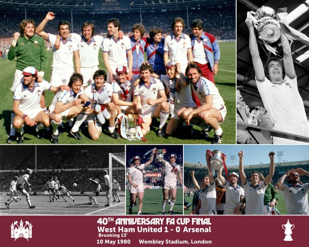 40TH ANNIVERSARY 1980 CUP FINAL MONTAGE PRINT