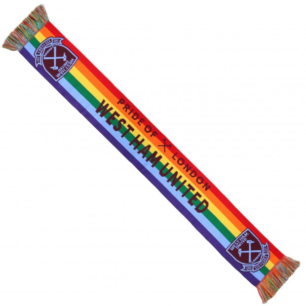 WEST HAM 125-RAINBOW SCARF