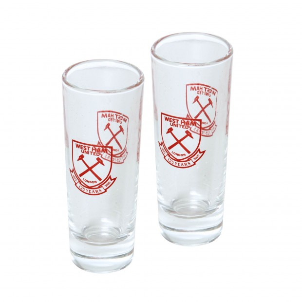 WEST HAM 125- 2 PK SHOT GLASS