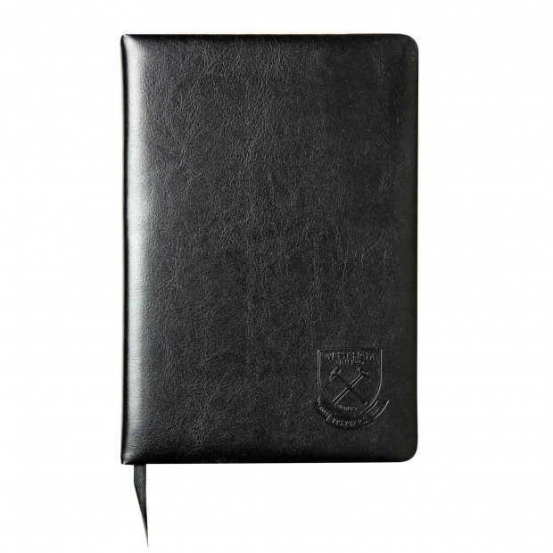WEST HAM 125-MONTAGE EMBOSSED NOTEBOOK