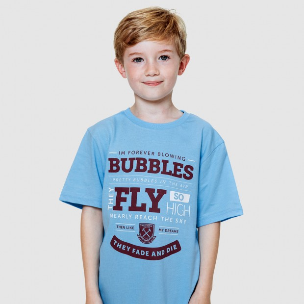 2418 - SKY 125 BUBBLES LYRICS T-SHIRT