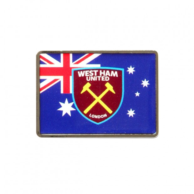 AUSTRALIA FLAG/CREST PIN BADGE