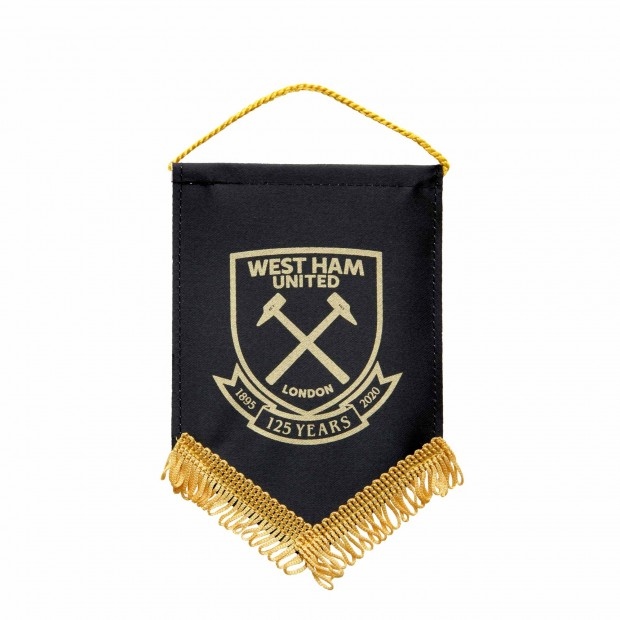 WEST HAM 125-SMALL BLACK PENNANT
