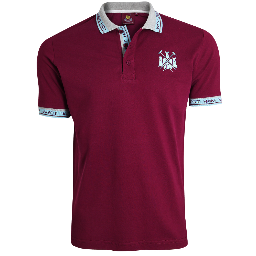 CLARET WEST HAM COLLAR POLO