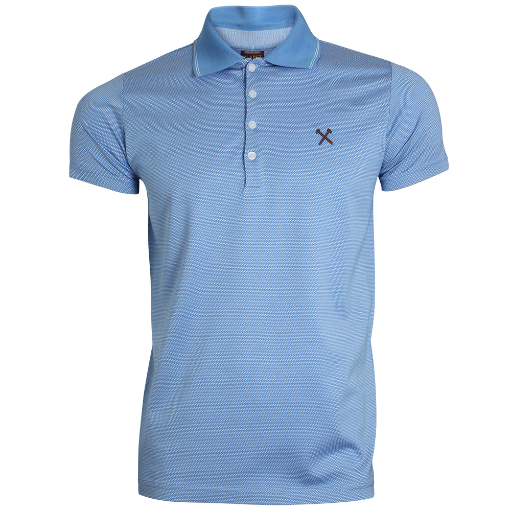CLARET COLLECTION - SKY TEXTURED POLO
