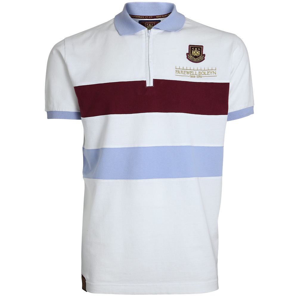 FAREWELL BOLEYN - ADULT WHITE ZIP POLO