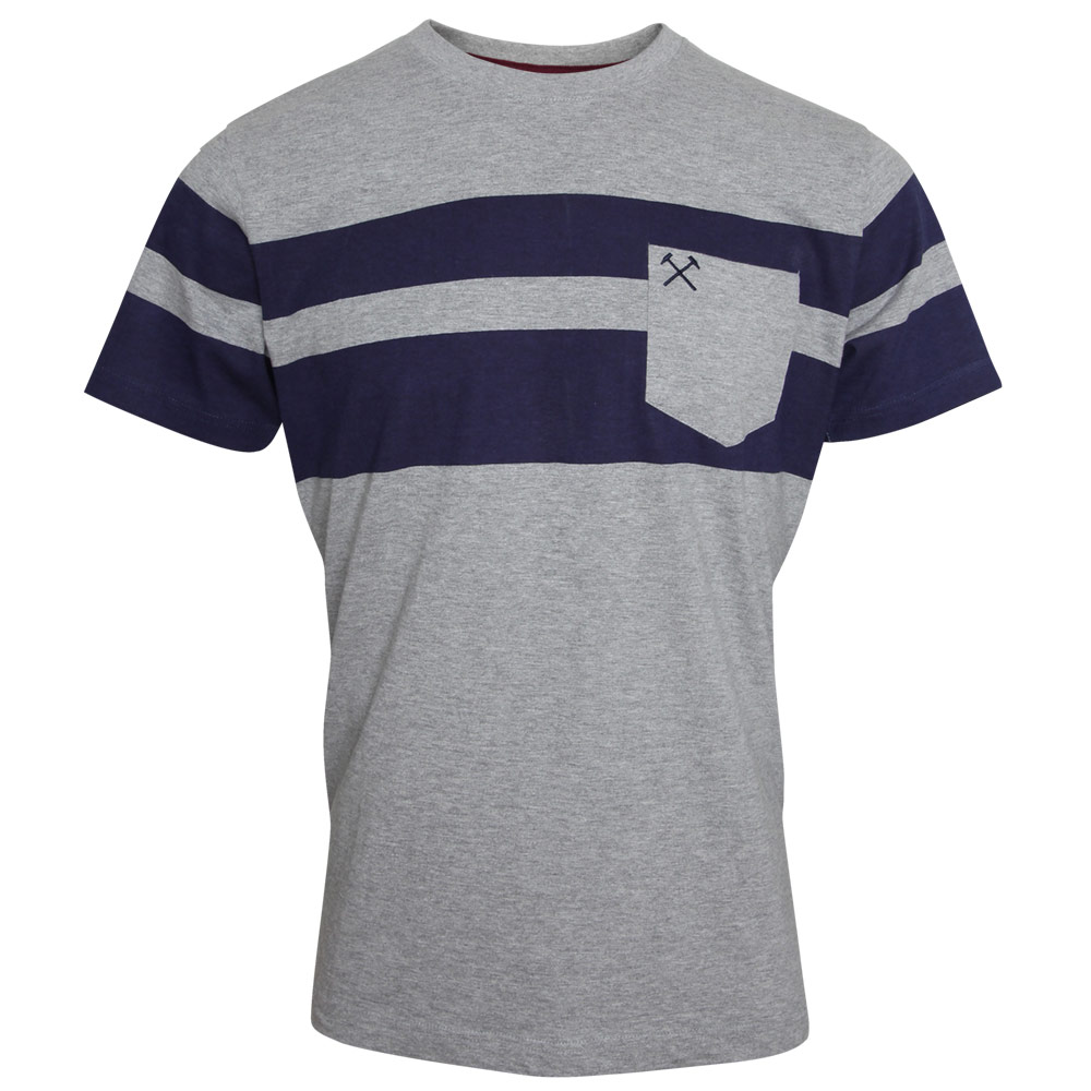 Grey navy stripe t shirt for Grey striped t shirt