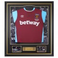 FRAMED 16/17 AYEW  SIGNED HOME SHIRT