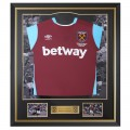 FRAMED 16/17 FEGHOULI SIGNED HOME SHIRT