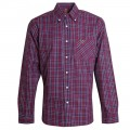 ADULT CLARET AND BLUE CHECK SHIRT
