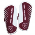 YOUTH CLARET/WHITE SHIN PADS