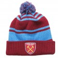 UMBRO WHUFC STRIPED BOBBLE  BEANIE
