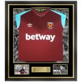 FRAMED 17/18 CHICHARITO FRONT SIGNED HOME SHIRT