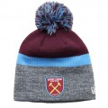 GREY BLOCK BOBBLE HAT