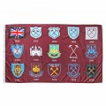 WEST HAM 125-CREST HISTORY FLAG