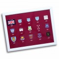 WEST HAM 125- CREST HISTORY LAP TRAY