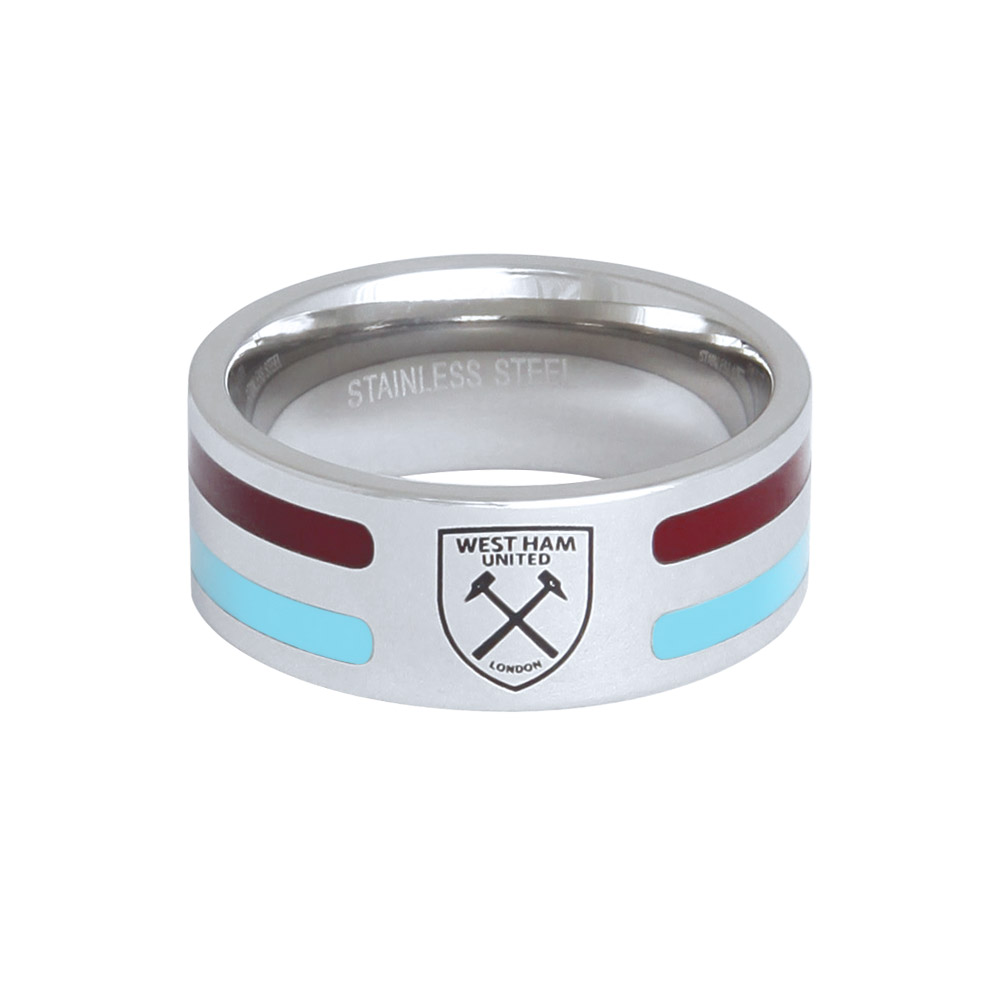 COLOUR STRIPE CREST RING