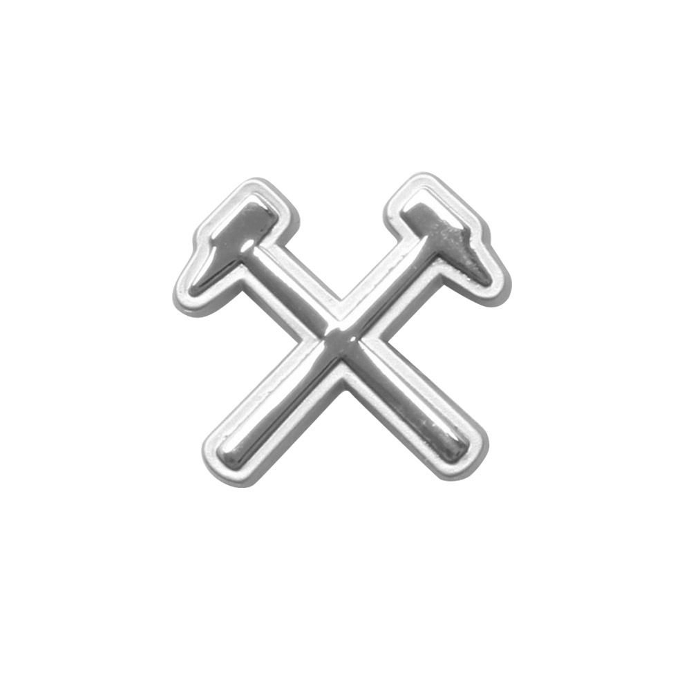 SILVER HAMMERS PIN BADGE