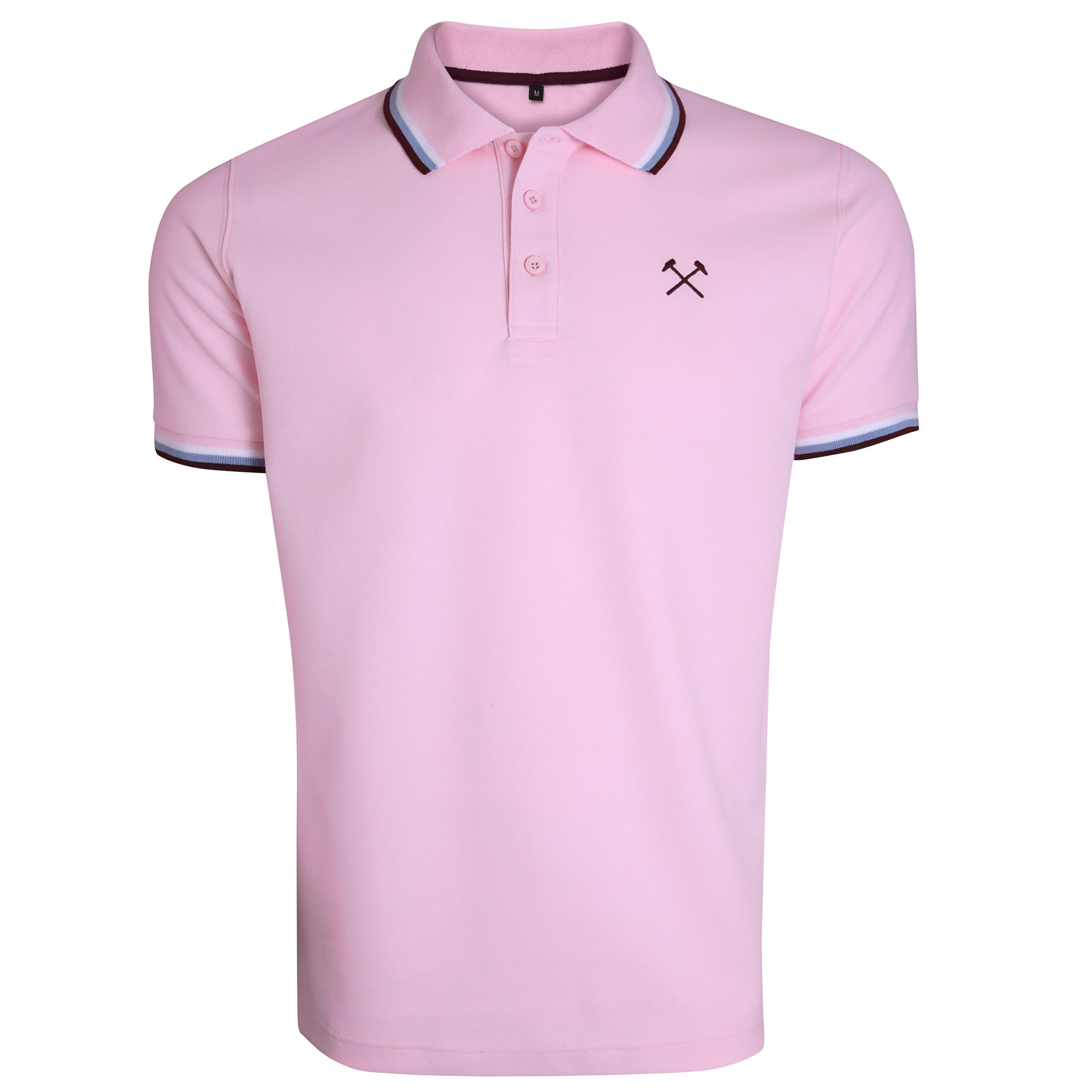 LIGHT PINK TIPPED HAMMERS POLO