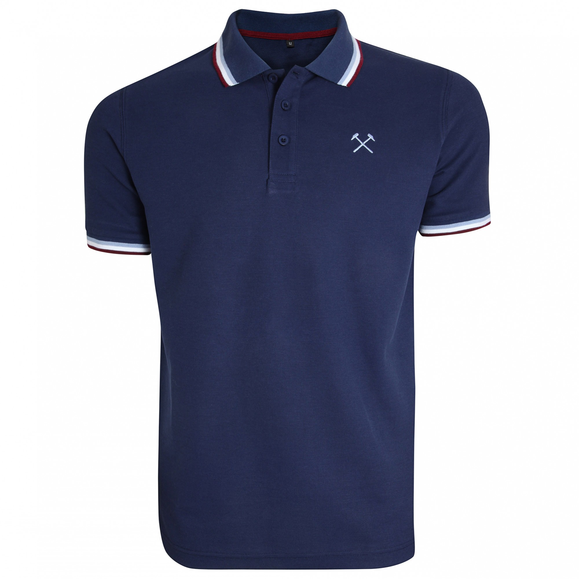 NAVY TIPPED HAMMERS POLO