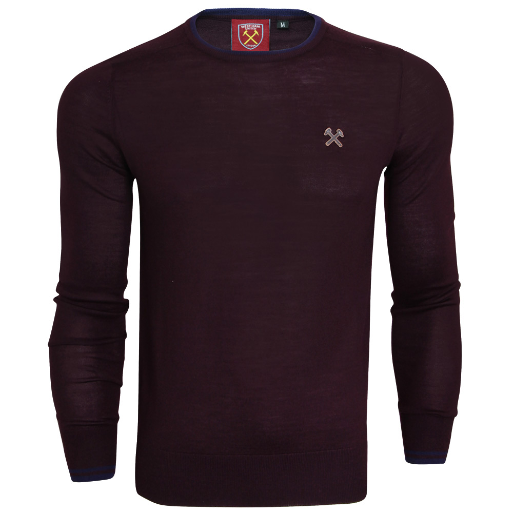 CLARET COLLECTION - CLARET MERINO WOOL JUMPER
