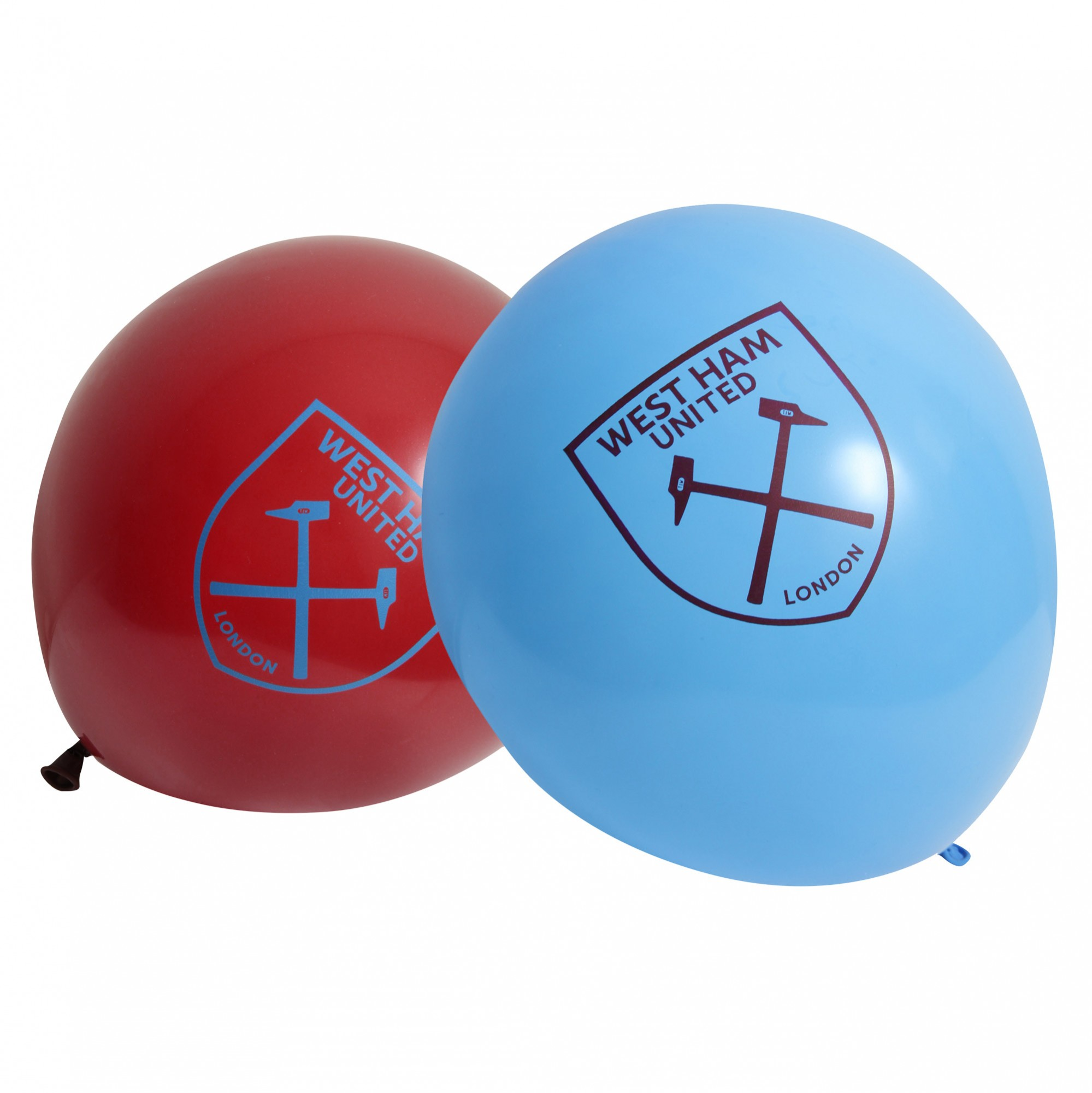 CLARET AND BLUE BALLOONS