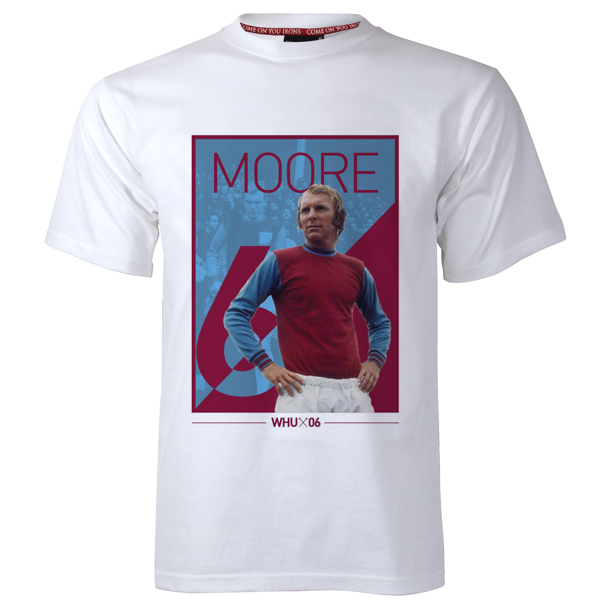 ADULT WHITE BLOCK MOORE T-SHIRT