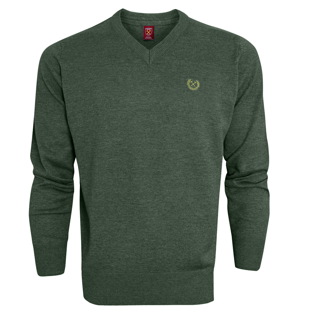 2440 - FOREST MARL V-NECK JUMPER