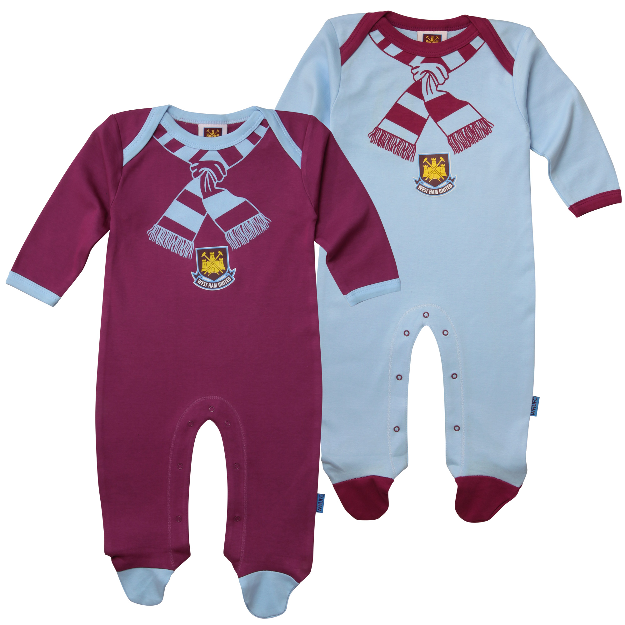 2 PACK SCARF SLEEPSUIT